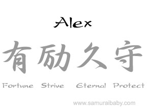 how to say alex in japanese