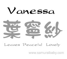 what does vanessa name mean